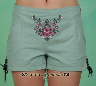 Shorts, Schäppel Shorts, antique-green-jeans