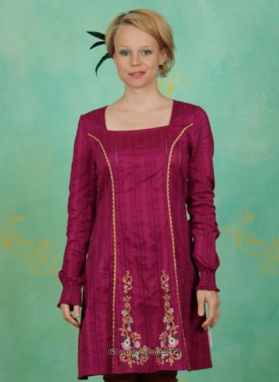 Kleid, Heimatchoral Dress, purple-cherry