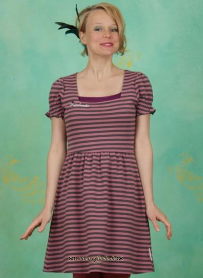 Kleid, Zapfpuppe Dress, rosewood-stripes