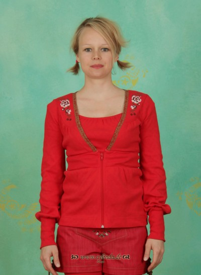 Zipper, Haselbrunn' Sweetzip, bollenhut-red