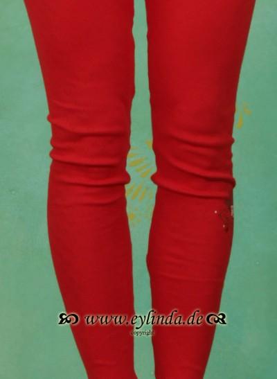 Leggins, Vorderzarten Beine, bollenhut-red
