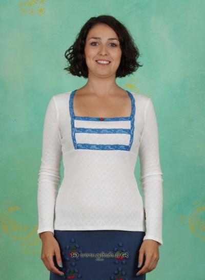Shirt, Kirschwasser Carré, white-linen