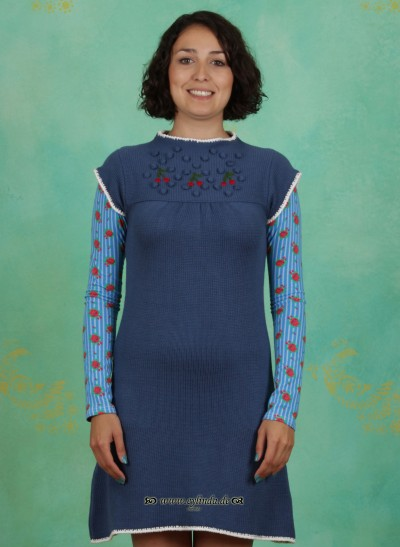 Kleid, Aber Oho Dress, majolika-blue
