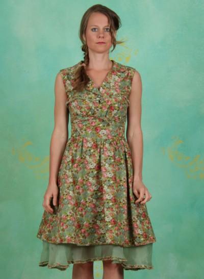 Kleid, Steigbügel Robe, rose-garden