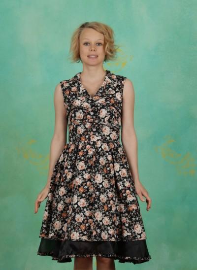 Kleid, Steigbügel Robe, winter-blossom