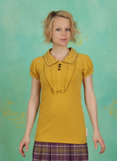 Shirt, Etikette Shirt, golden-melange