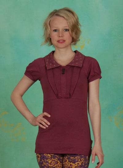 Shirt, Etikette Shirt, rosery-melange