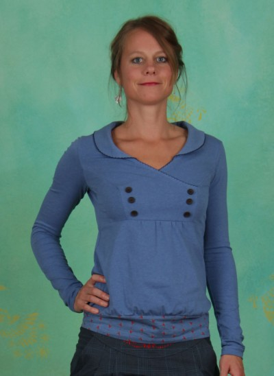 Shirt, Charming Sweat, indigo-melange