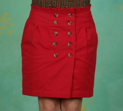 Rock, French Trenchskirt, red-glow