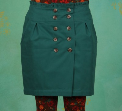 Rock, French Trenchskirt, vintage-green