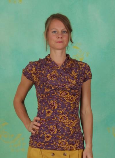 Shirt, Clever Cachette, golden-floral