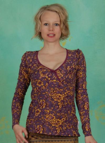 Shirt, Charming Minna, golden-floral
