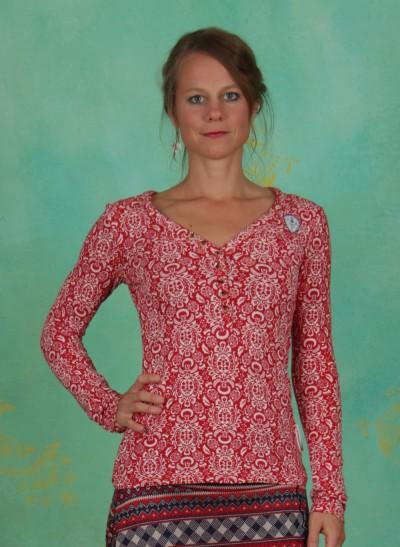 Shirt, Best Button Longsie, dolce-vita-ornamental