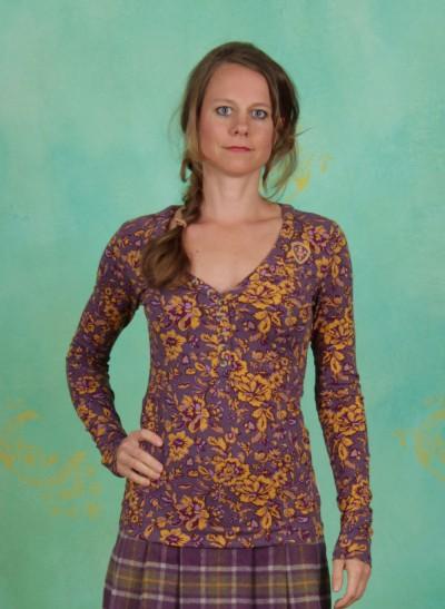 Shirt, Best Button Longsie, golden-floral