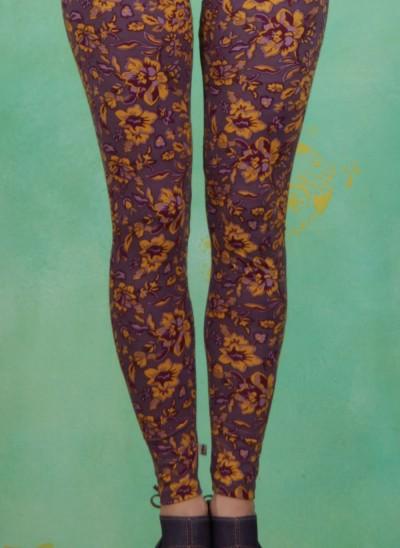 Leggins, Aunty'S Tights, golden-floral