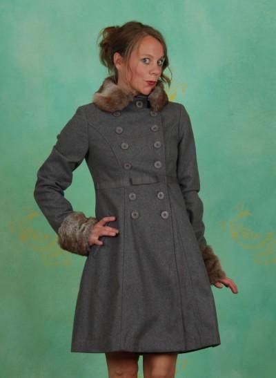 Mantel, Balalaika Coat, brit-grey-melange