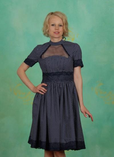 Kleid, Organ Pipe Twist Dress, boogaloo-dots