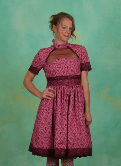 Kleid, Organ Pipe Twist Dress, melodie-d-amour