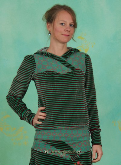 Hoody, Serail Style Hoody, wolgograd-stripes