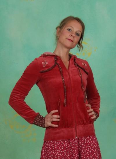 Zip Hoody, Rondo Ruffle Zip, contrabass-red