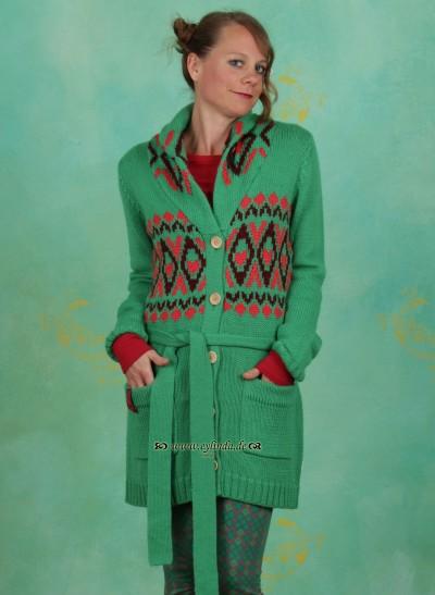 Cardigan, Kaminmelodie Cardie, valjenkas-green