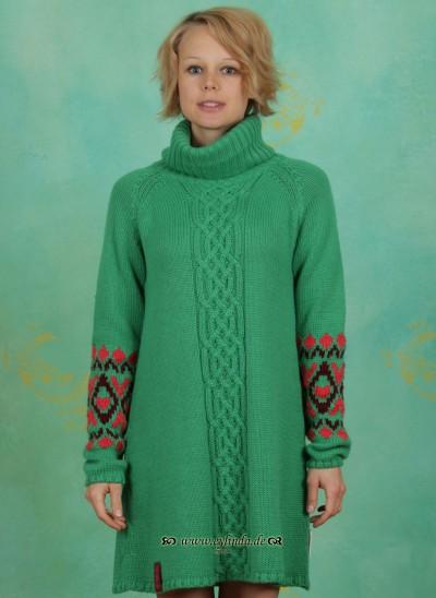 Longsweat, Aran Turtle Swingster, valjenkas-green