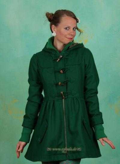 Mantel, Britpop Short Coat, deep-green