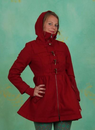 Mantel, Britpop Short Coat, violine-timber