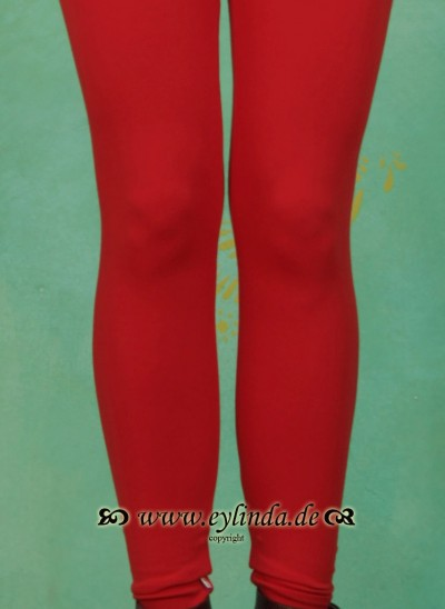 Leggins, Logo Leggins, cherry-red