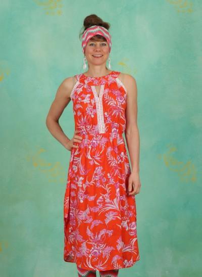 Kleid, Summer Goddess Robe, tangerine-tropical