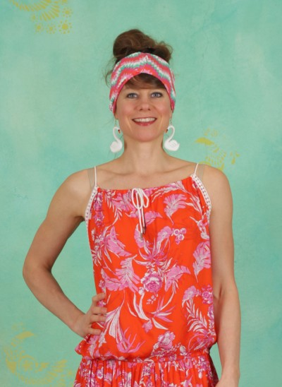 Top, Lovely Lazy Noon Top, tangerine-tropical