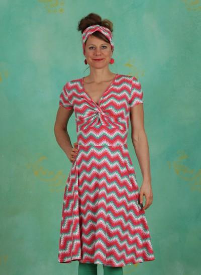 Kleid, Hot Knot Summer Robe, hippie-zig-zag