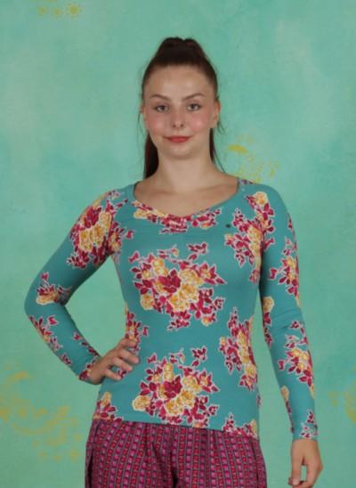 Shirt, Savoir Vivre Longsie, super-retro-bouquet