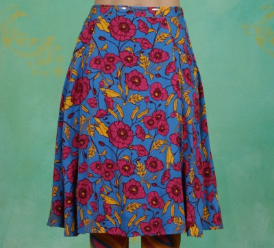 Rock, Glamourous Grace Skirt, popping-poppy