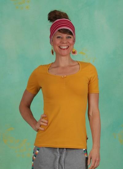 Shirt, Logo Balconette Tee, back-to-yellow