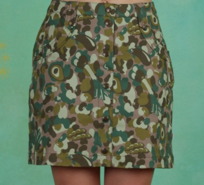 Rock, Snake, Rattle And Roll Skirt, veggieflage