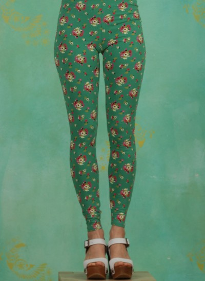 Leggins, Who Let The Fox Out Legs, jungle-flowers