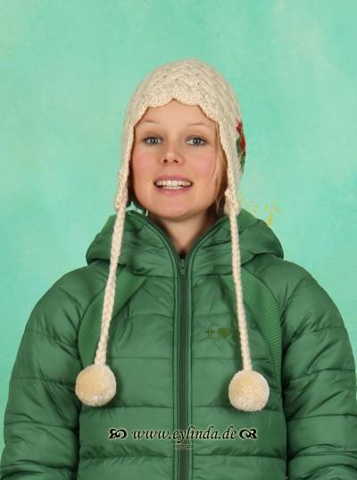 Mütze, Bommelwonder, creamy-wool