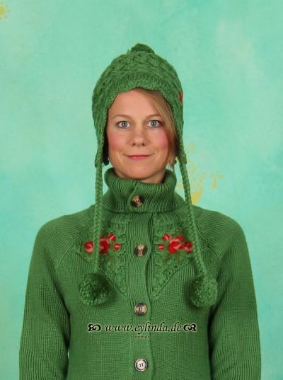 Mütze, Bommelwonder, hunters-wool