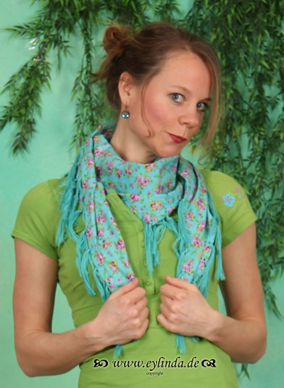 Tuch, Botanical Bandana, heavenly-flowerbed
