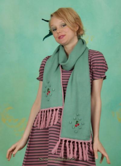 Schal, Cherry Comforter, antique-green