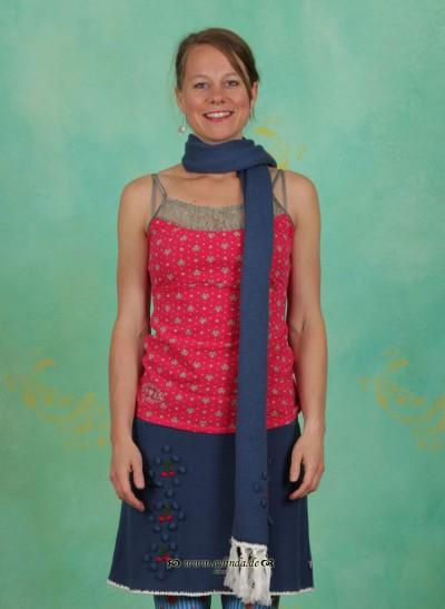 Schal, Cherry Comforter, majolika-blue