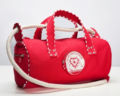 Tasche, Von-der-Rolle-Roller, red canvas
