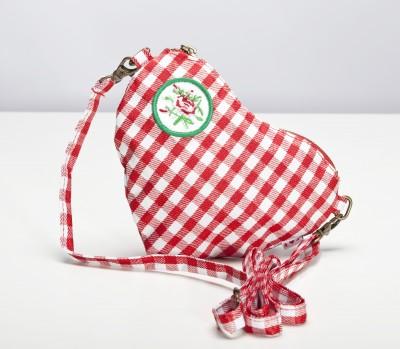 Tasche, Heart Bag, red vichy