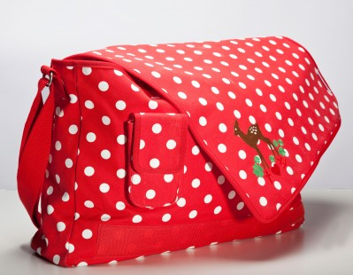 Tasche, Big-Shoulder-Holder, polka dot