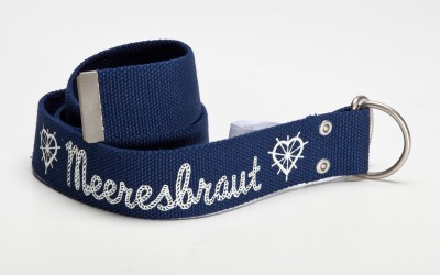 Gürtel, Mermaid-Belt, blue canvas