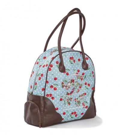 Tasche, Flatterby Weekender, polka-cherries