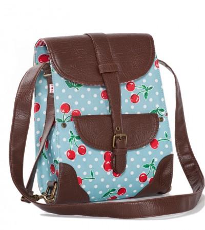Tasche, Flapbag, polka-cherries