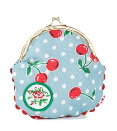 Tasche, Patch-Purse, polka-cherries