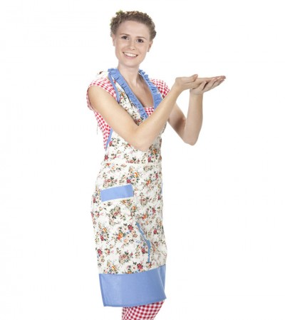 Schürze, heimchen dress, flower bouquet